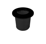 Aktivkohlepatrone in die Filterpatrone für CLEANING DF
