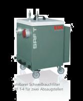 SRF T-4 - tragbarer Schweißrauchfilter - mit Filterpatrone für Lötrauch